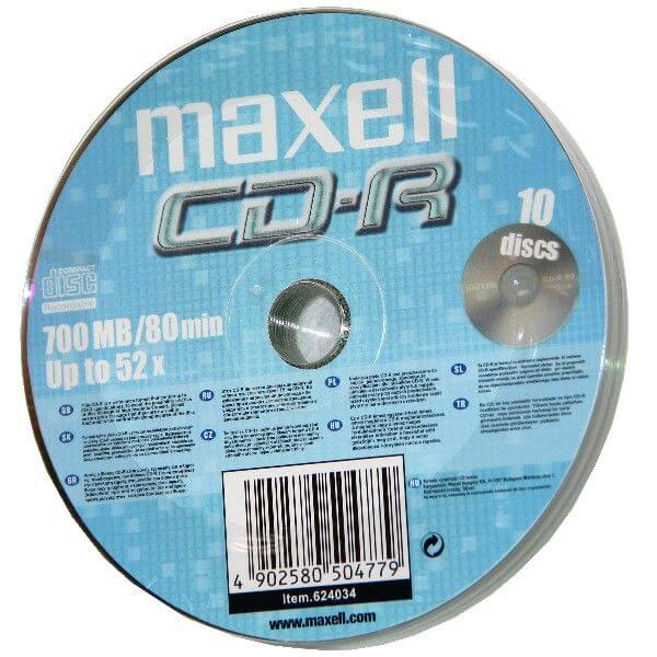 Maxell CD-R 52x Shrink (10)