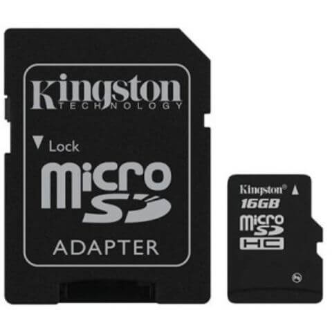 Kingston MicroSDHC 16GB CL4 +adapter